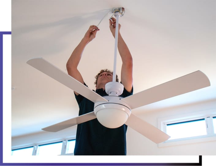 Services Ceiling Fan Installation and Wiring - Varley Electric